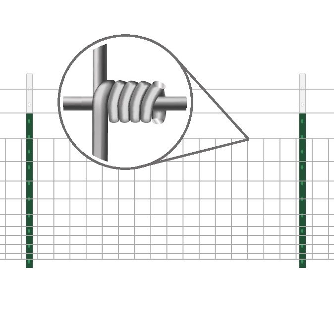 Hinge Knot Field Fence with T Posts