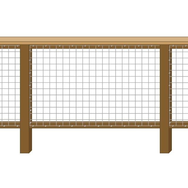 Framed 1 Side - 2 Rails + Cap Rail
