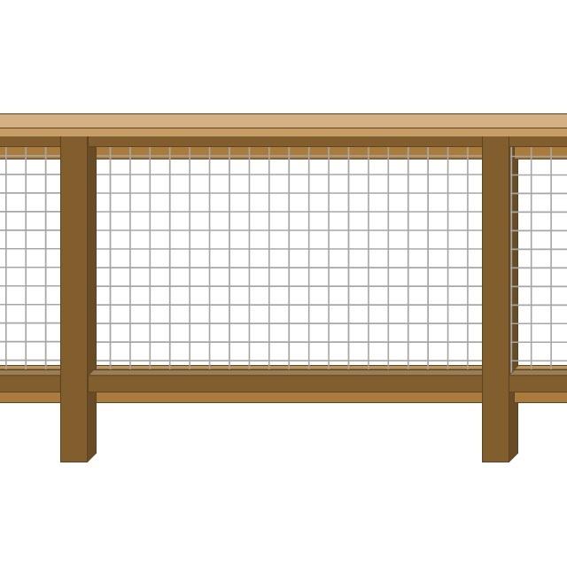 Framed 2 Sides - 2 Rails + Cap Rail